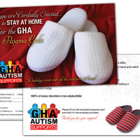 Postcard Design, GHA Autism Supports Albemarle NC